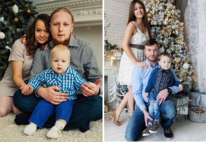 družinsko novoletno fotografijo v studiu 1