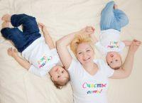T-shirty rodzinne dla trzech osób