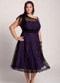 Elegancka sukienka dla pełnych kobiet na wesele6