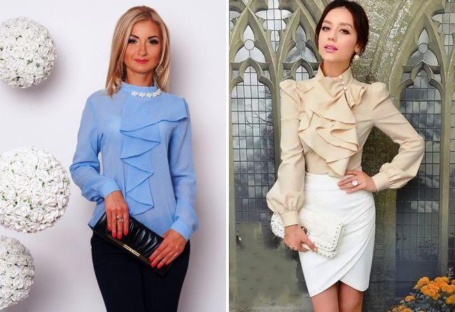 нарядные блузки 2017