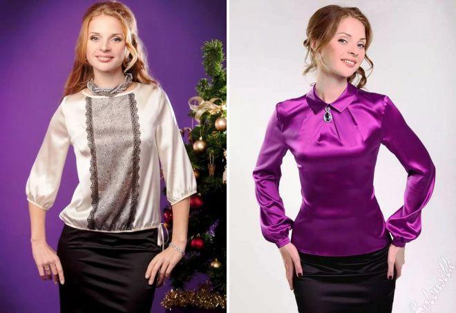 модные шелковые блузки 2017