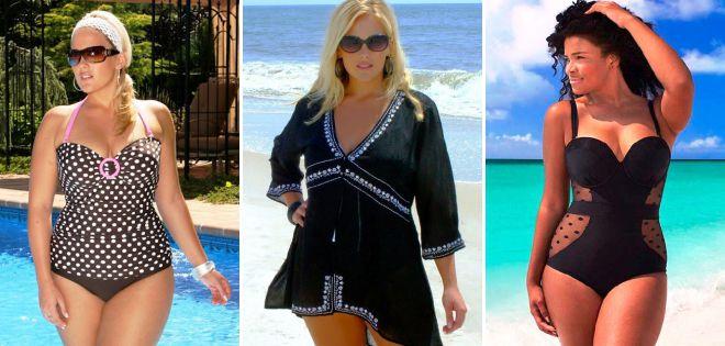 пляжная мода 2018 тенденции для полных