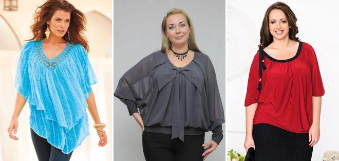 модные блузки 2018 для полных