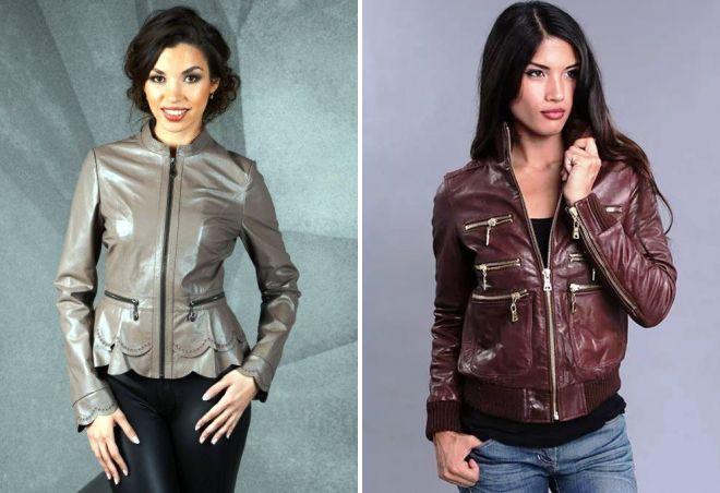 женские модные кожаные куртки
