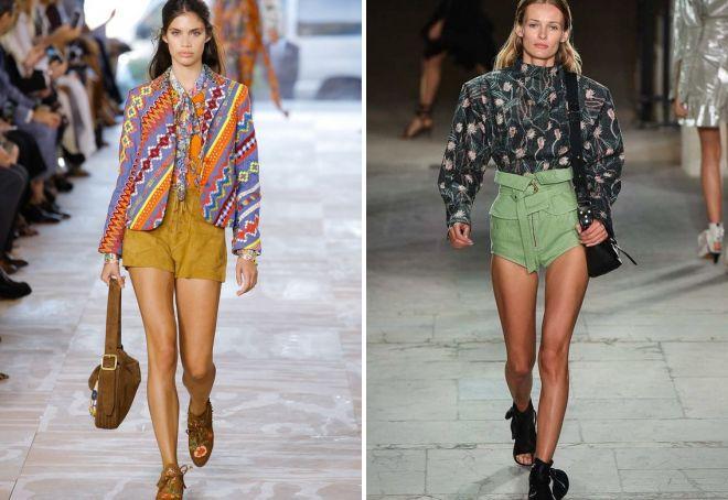 модные шорты с высокой талией