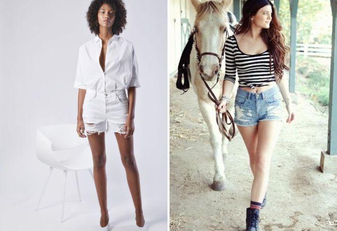 женские модные рваные шорты