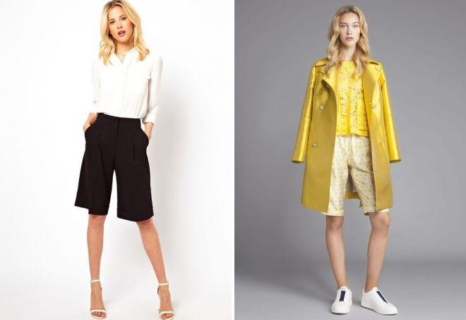 модные длинные шорты