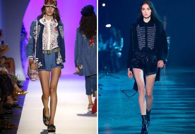 модели модных женских шортов