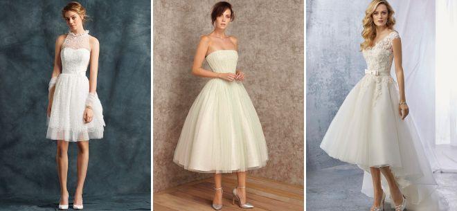 stylowe krótkie suknie ślubne