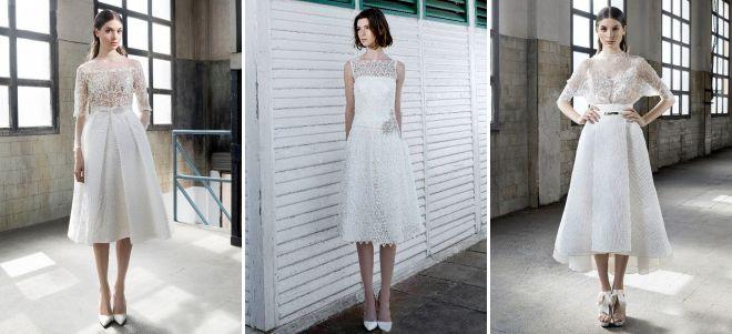 modne krótkie sukienki ślubne