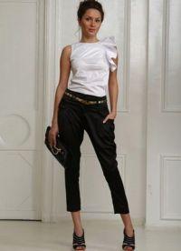 Ženske klasične hlače so se zožile do dna10