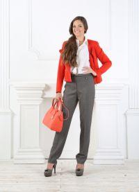 Ženske klasične hlače so se zožile na dno9
