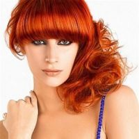 огнено червено боядисване на косата 9