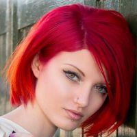 огнено червено боя за коса 3
