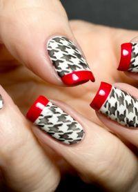 piękne francuskie paznokcie ze wzorem 9
