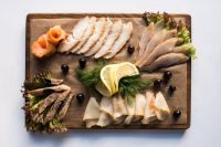оформление рыбной нарезки1