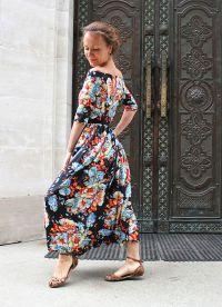 Sukienka z kwiatami 2015 7