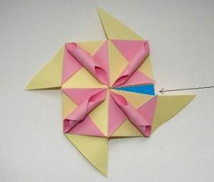 květinové koule kusudama z modulů25