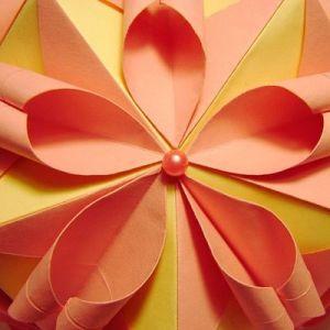 květinové kuličky kusudama z modulů27