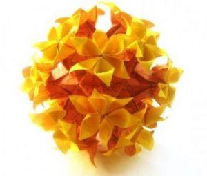 květinové koule kusudama z modulů29