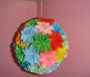 květinové kuličky kusudama z modulů30