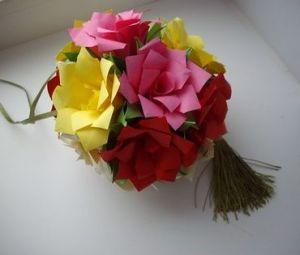 květinové kuličky kusudama z modulů31