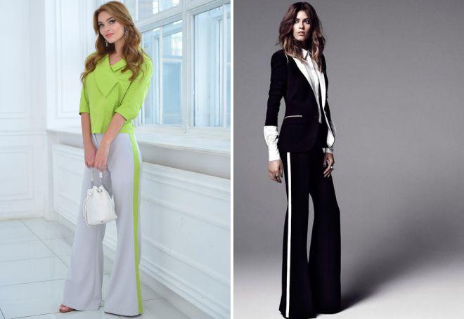 брюки клеш 2018 года модные тенденции