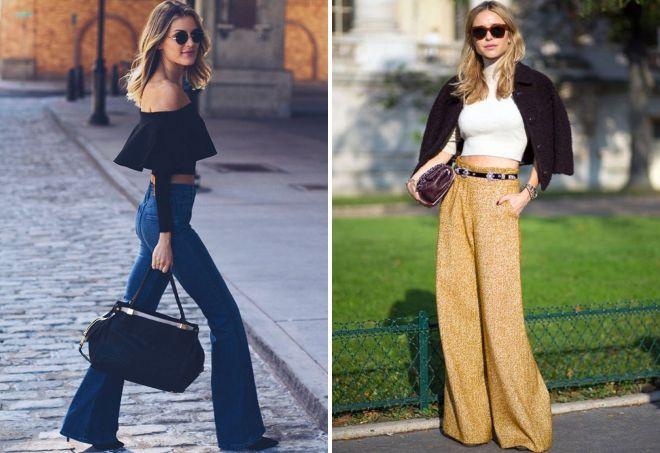 женские брюки клеш