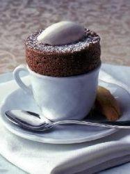 czekoladowy fondant w kuchence mikrofalowej