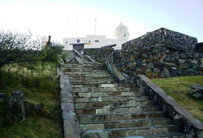 Лестница на вершину крепости
