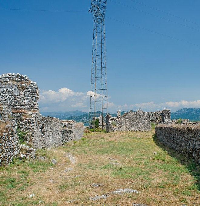 Внутри крепости. Вид на север