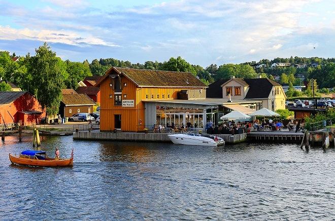 Один из лучших ресторанов Фредрикстада Restaurant Slippen