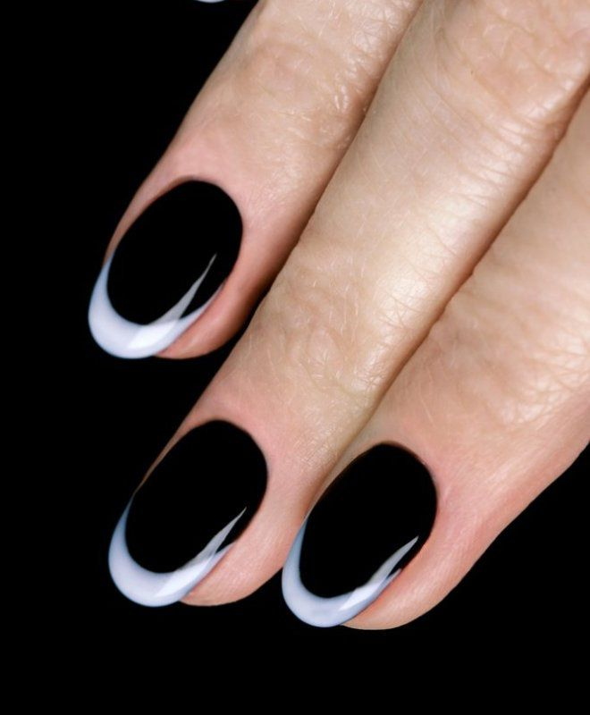 французский маникюр на короткие ногти раз