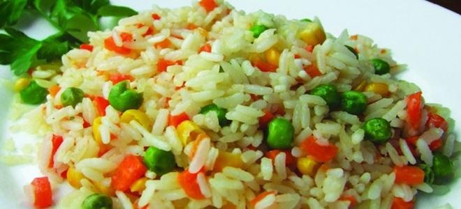 пиринач са поврћем за гарнисх
