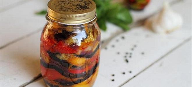 Smażone bakłażany z pomidorami na zimę