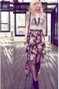 Prednji suknji kratki i dugi leđa 7
