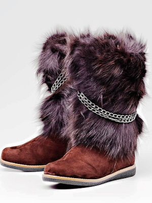 Futrzane buty 7