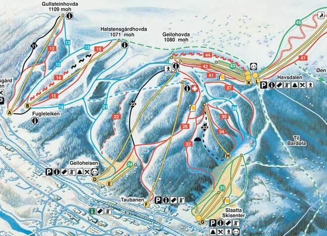 Карта курорта