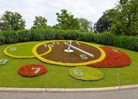 Символ Женевы - цветочные часы в Английском парке