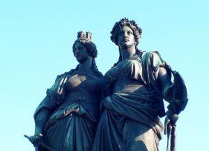 Памятник посвященный объединению Женевы и Швейцарии