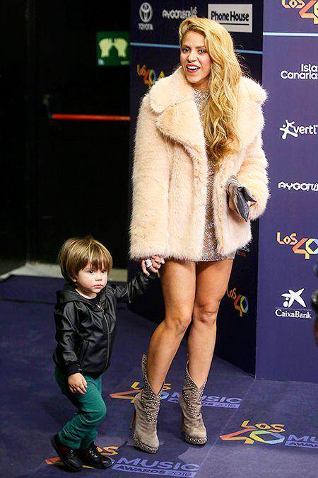 Шакира с сыном Сашей