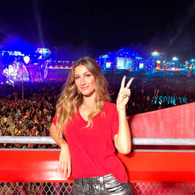 Жизель Бундхен на фестивале Rock in Rio