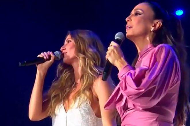 Жизель Бундхен и Ивечи Сангалу вместе исполнили песню