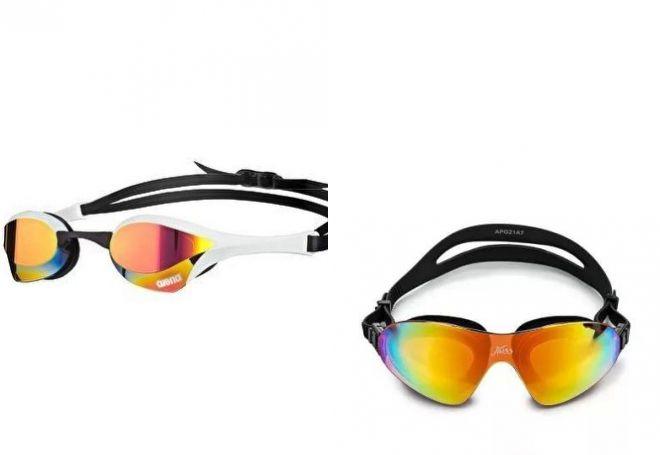 зеркальные очки для плавания
