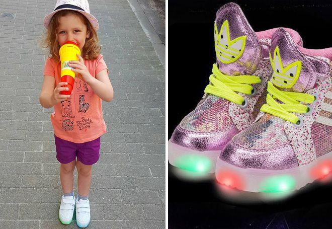 Светящиеся кеды - луяший подарок для ребенка