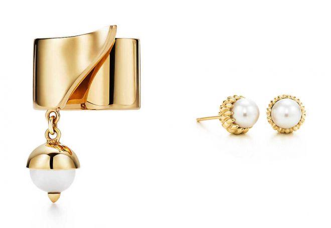 как выбрать золотые серьги с жемчугом
