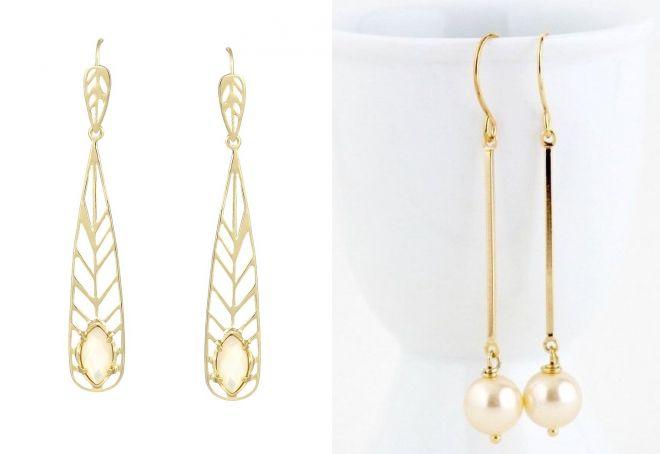золотые серьги с крупным жемчугом