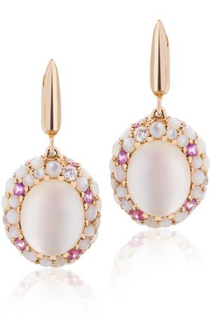 обеци с перли и диаманти