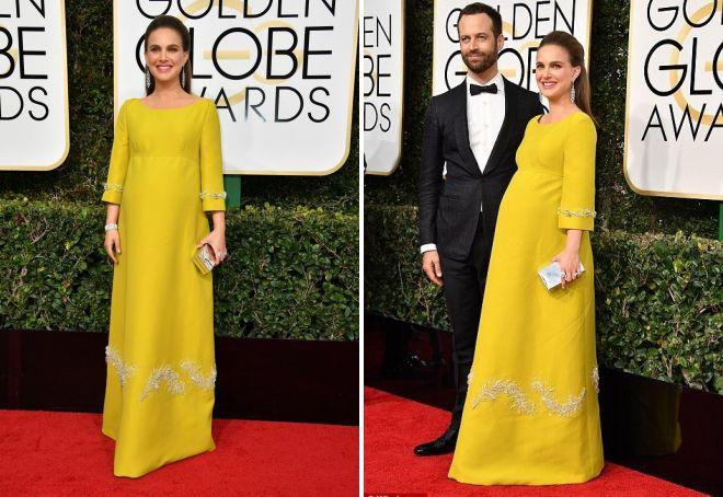 15 Natalie Portman w żółtej sukience od Prady