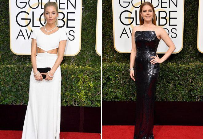 2 Sienna Miller i Amy Adams wykazały się doskonałym wyczuciem stylu.